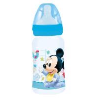 STOR - Disney Mickey bébé bouteille de 240ml wideneck tétine en silicone