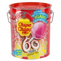 CHUPA CHUPS - Chupa chups pot metal 150 sucettes collector anniversaire 60 ans