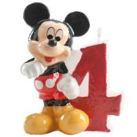DEKORA - Dekora Bougie Chiffre Mickey N ° 4 35 g - Lot de 2