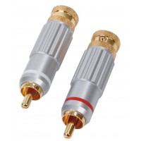 HQ High quality RCA audio plugs (2x)