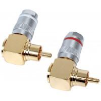 HQ High quality 90° angle RCA audio plugs