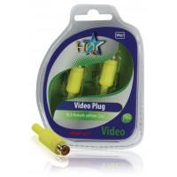 HQ fiches vidéo RCA femelles jaunes (2x)