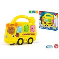 C BABY - COLORBebe Color Bebe –Autobus Musical avec lumière, Animaux, 20x 18cm (44122)