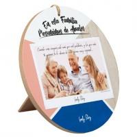 LOVELY STORY - LS Lovely Story regala Histoires Beaux Cadre Rond Pendentif/Table Personnalisable en Bois de 20cm de diAmetro. a
