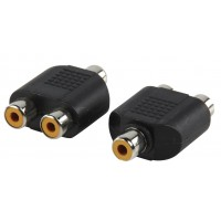 Valueline adapter plug RCA socket to double RCA socket