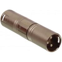 Valueline 3p XLR male - 3p XLR male adapter