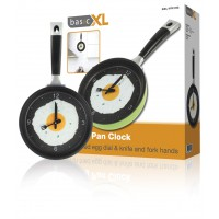 basicXL frying pan clock green