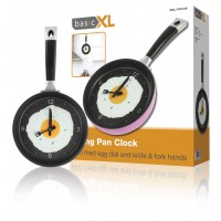 basicXL frying pan clock pink