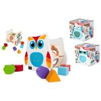 PLAY & LEARN - ColorBaby Hibou Jouet en Bois 16 x 15 x 16 cm formes et couleurs