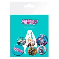 GB EYE - GB Eye LTD, Hatsune Miku, Mix, Set de Badges
