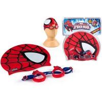 MARVEL - EOLO–Bonnet et lunettes de natation pour enfant (COLORBABY) Spiderman