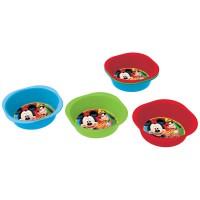 STOR - Planetoys-Set 3 Uni bols pique-niquer couleurs Mickey Mouse
