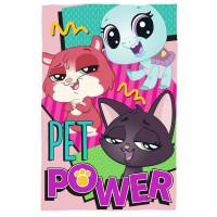 - Kids Little Pet Shop Manta 150x100 Cm Couverture de Voyage, 30 cm, Multicolore (Colores)