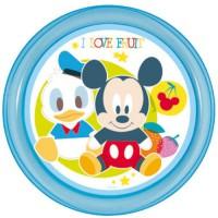 DISNEY - Plato Micro Basic Mickey Baby Azul Colour Overlap