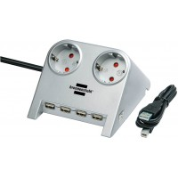 Brennenstuhl desktop power with USB hub