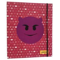 EMOTICONWORLD - Chemise A4 anneaux Emoticonworld mosaïque élastique rose