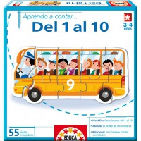 EDUCA BORRAS - apprendre a contar del 1 al 10 apprendre à compter en ESPAGNOL