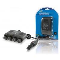 HQ répartiteur 4-voies 12V + USB pour voiture