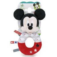 DISNEY - Jouet de Play - Disney 760016644. Sonajero de peluche Mickey Mouse.
