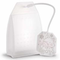 NICI - Filtre à thé Neige Chat 4,5x 6,7x 9,1cm