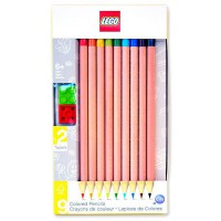 LEGO - IQ Lego Loisir créatif-Papèterie-9 Crayons de Couleurs Embout Fantaisie, LG51515
