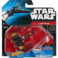 HOT WHEELS - Hot Wheels Star Wars Poe's X-Wing Fighter (Closed Wings) Die-Cast Vehicle by Mattel véhicule