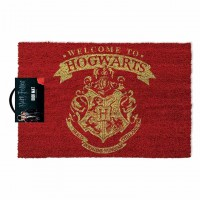 PYRAMID - Harry Potter Paillasson ave Inscription Welcome to Hogwarts, Rouge et Or