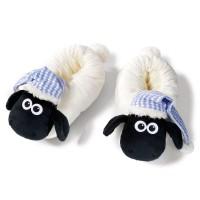 NICI - NICI 41476Shaun le mouton Chaussons avec sommeil bonnet, 38–41, Couleur : Blanc/Noir