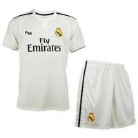 REAL MADRID - Ensemble Maillot et pantalon 1 er équipement Real Madrid 2018-2019 - Réplique Offcielle avec Licence - Crête lisse