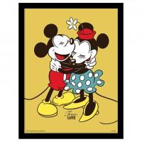 PYRAMID - Disney Mickey Minnie amour encadrée
