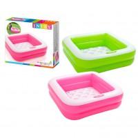 INTEX - Intex 0775035 Play Box Piscine pour Bébés Vinyle -1 unité 85 x 85 x 23 cm - Coloris aléatoire