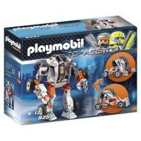 PLAYMOBIL - Playmobil Chef de la Spy Team avec Robot Mech, 9251
