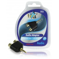 HQ adaptateur audio 3.5mm mâle stéréo - 2x RCA femelles