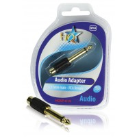 HQ adaptateur audio 6.35mm mâle - RCA femelle