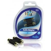 HQ coupleur audio 2x RCA femelles - 2x RCA femelles