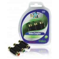 HQ coupleur vidéo 3x RCA femelle - 3x RCA femelle component