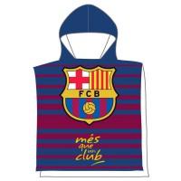 FC BARCELONA - Serviette Poncho FC Barcelona en microfibre 55x110cm