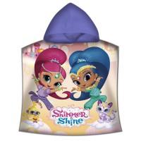 KIDS LICENSING - Poncho Disney Shimmer and Shine en polyester, SH17089M, 100 x 150 cm