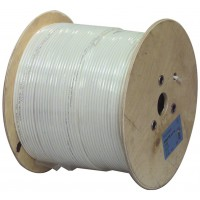 Hirschmann coaxial cable double shielded on reel 500 m white