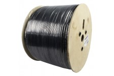 Hirschmann coaxial cable double shielded on reel 500 m black