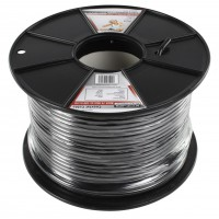 König professional coaxial cable on reel 100 m black