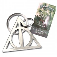 NOBLE COLLECTION - Harry Potter porte-clés métal Deathly Hallows 5 cm