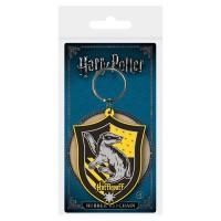 PYRAMID - Le monde des sorciers World Harry Potter-hufflepuff en caoutchouc Porte-clés, Multicolore, 4.5x 6cm