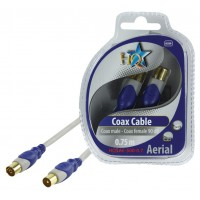 CABLE COAX MALE - FEMELLE 90DB SILVER HQ - 0.7m