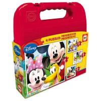 EDUCA BORRAS - Educa - 16505 - Koffer Progressive Puzzle - Mickey Mouse Clubhouse - Set De 4