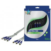 CABLE VIDEO COMPONENT SILVER HQ - 15m