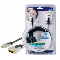 CABLE DE CONNEXION HDMI-DVI HAUTE QUALITE - 3m