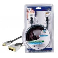 CABLE DE CONNEXION HDMI-DVI HAUTE QUALITE HQ - 5m