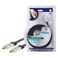 CABLE HDMI HIGH SPEED PLAT HAUTE QUALITE HQ - 2.5m