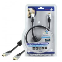 CABLE HDMI HIGH SPEED AVEC ETHERNET HQ - 0.75m